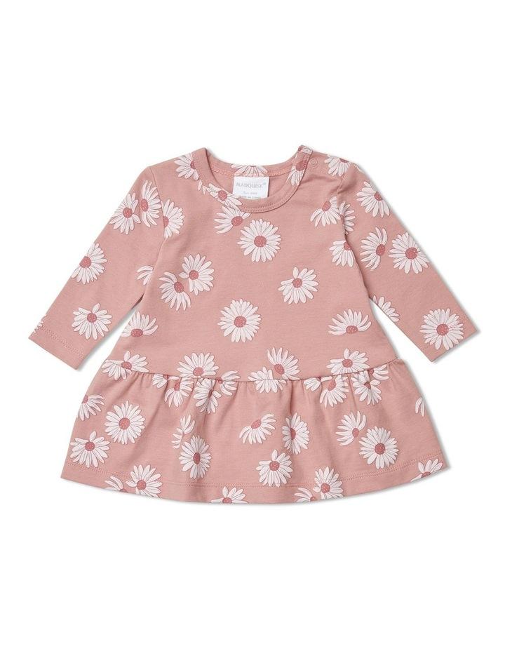 Flower Pink Flower Printed Dress image 1