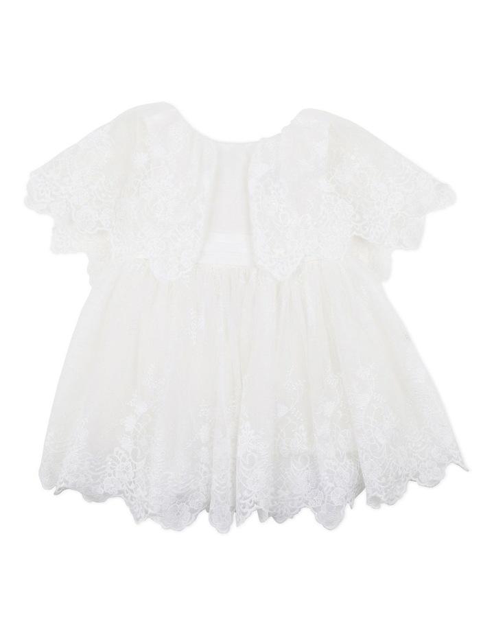 Cape Sleeve Lace Dress Ivory image 1