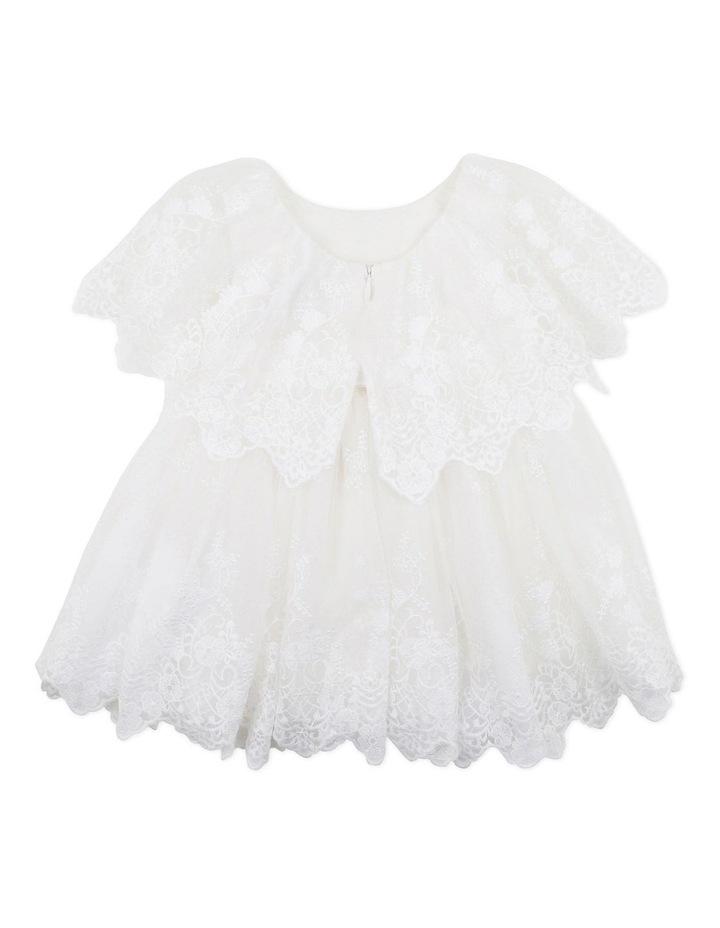 Cape Sleeve Lace Dress Ivory image 2