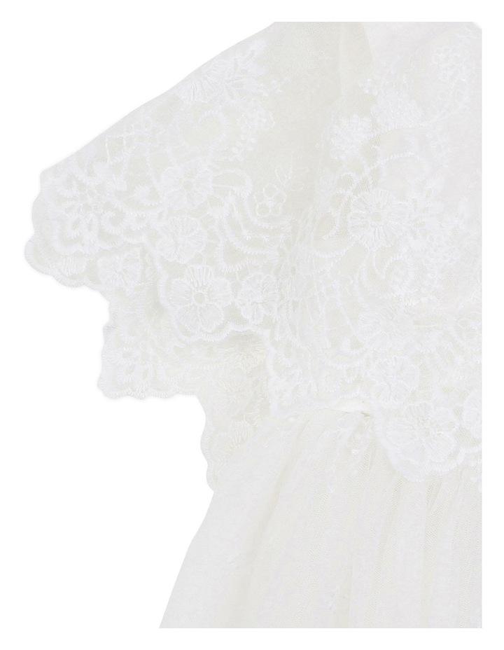 Cape Sleeve Lace Dress Ivory image 3