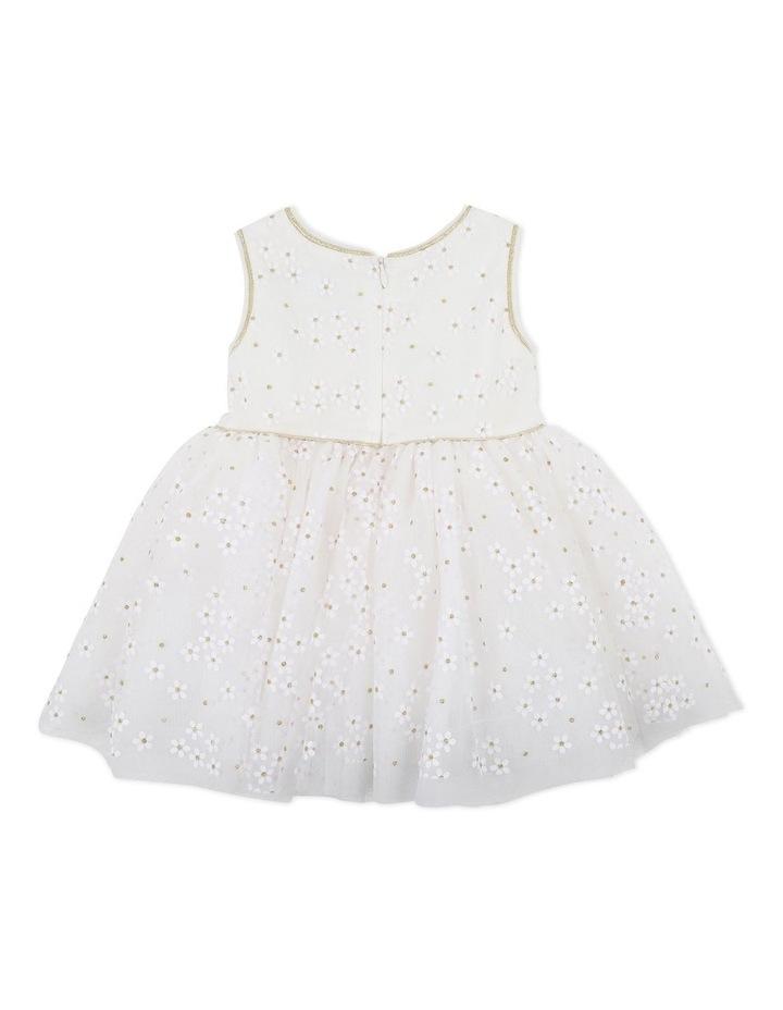 Trim Daisy Print Dress Gold image 2