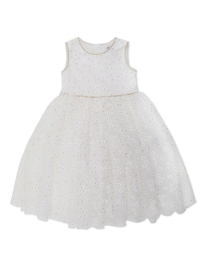 Trim Daisy Print Dress Gold image 1