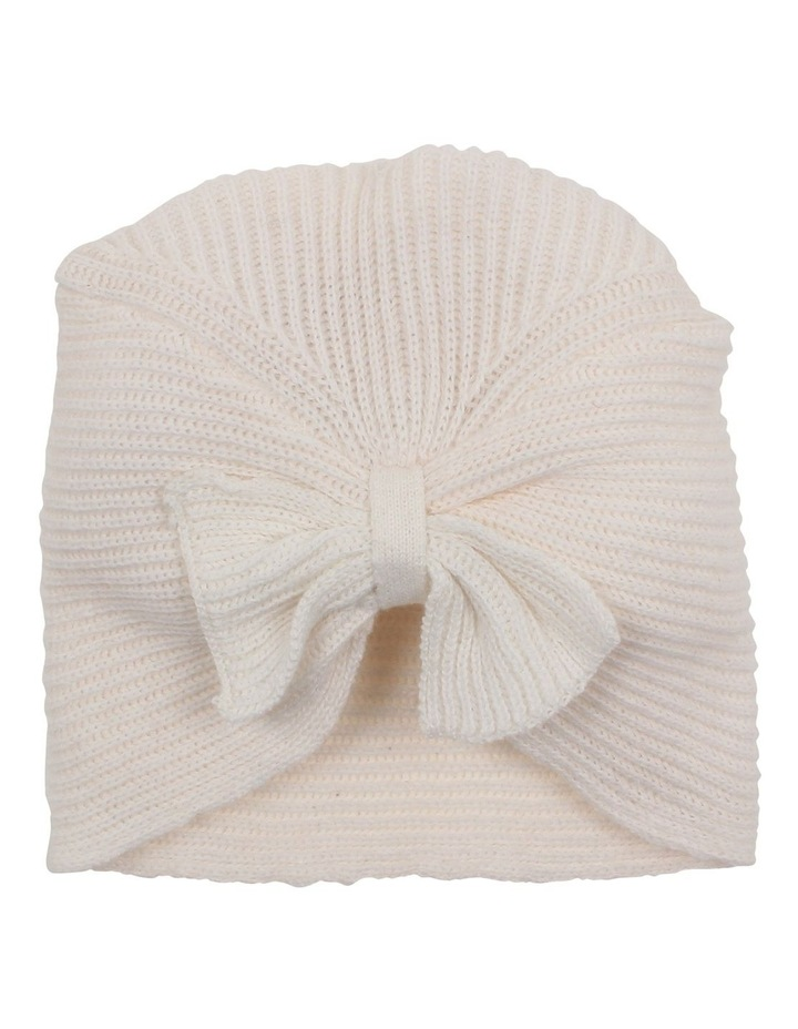 AMELIA CABLE BOW KNIT BEANIE image 1
