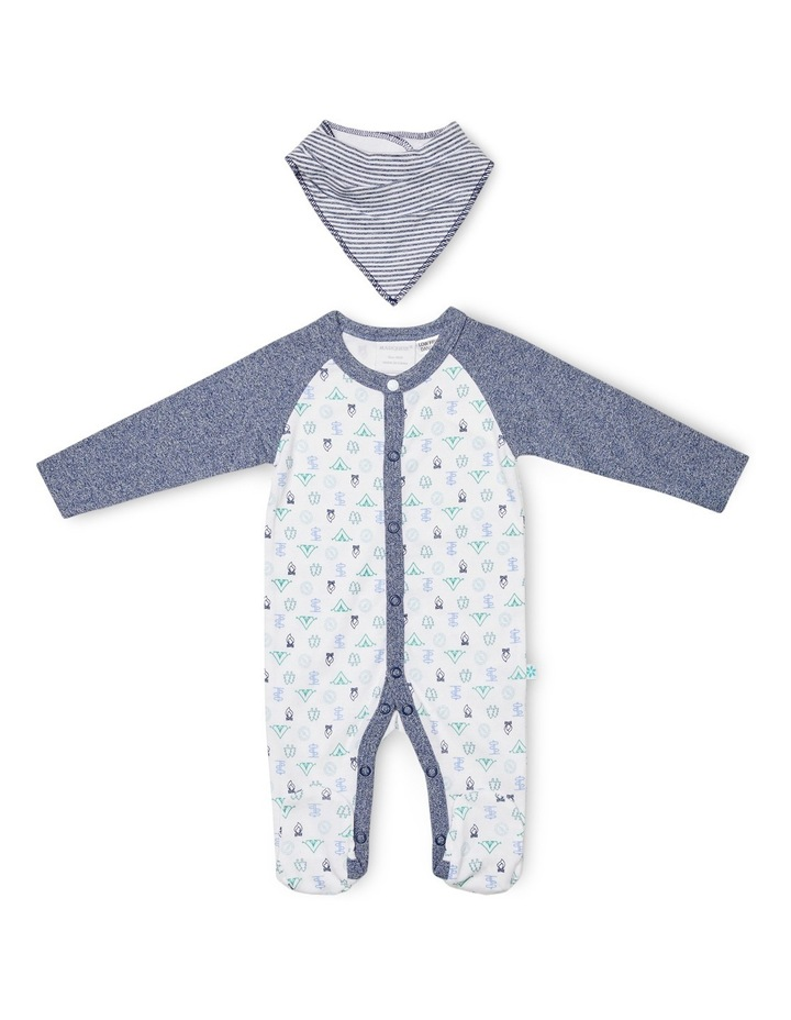 Footed Studsuit With Bib image 1