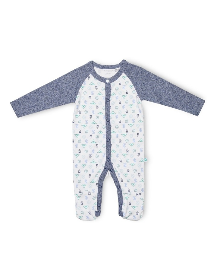 Footed Studsuit With Bib image 2
