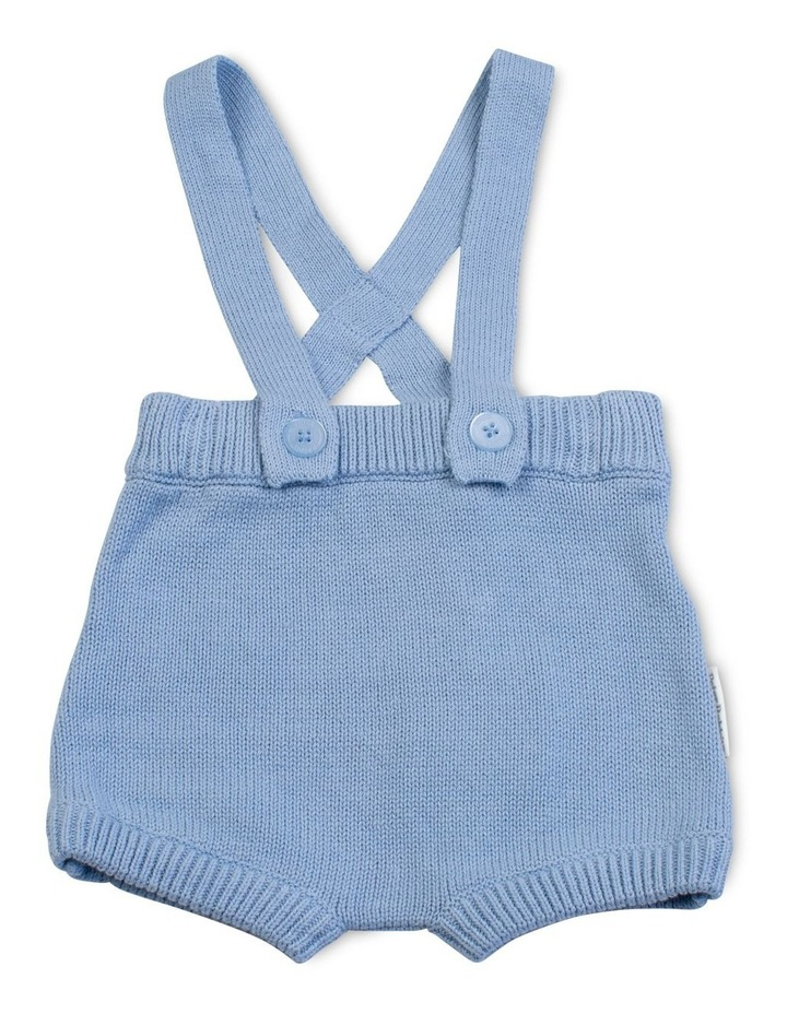 Blue Bunny Knitted Overalls image 1