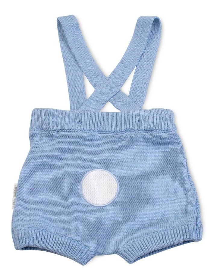 Blue Bunny Knitted Overalls image 2
