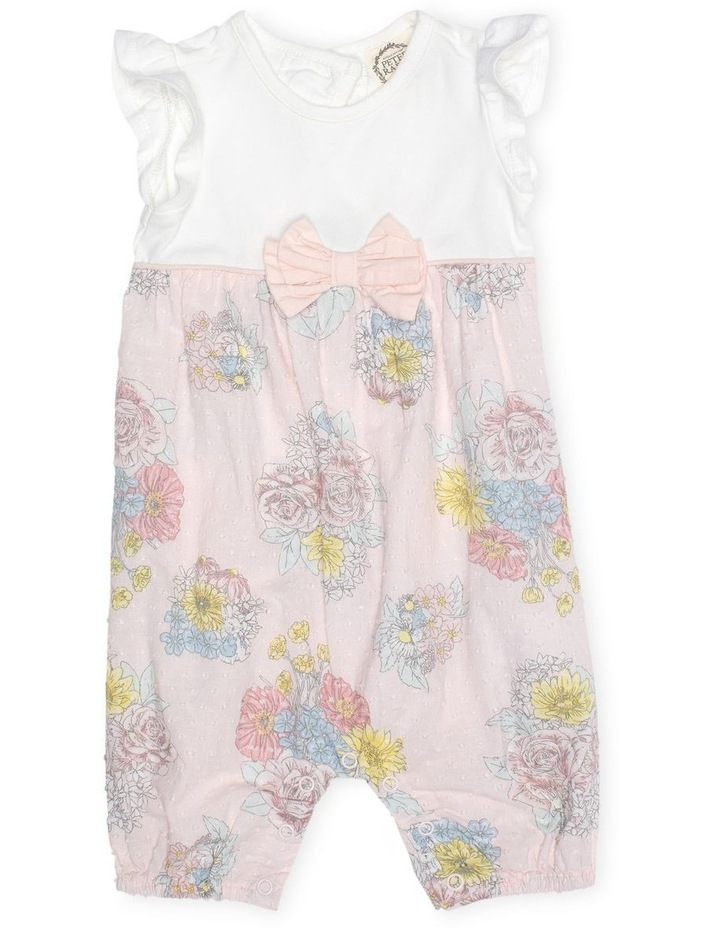 Floral Romper With Ruffle Sleeves image 1