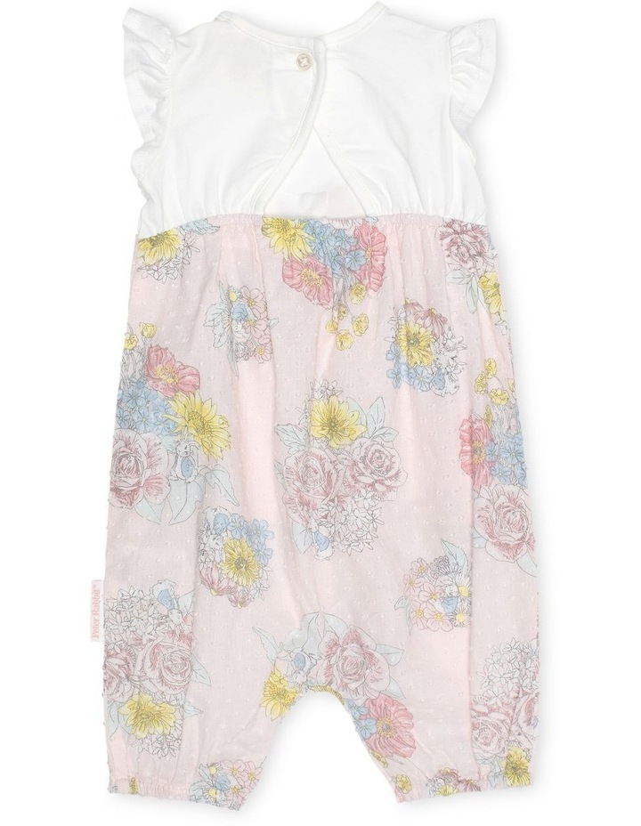 Floral Romper With Ruffle Sleeves image 2