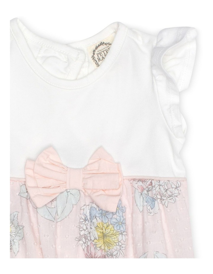 Floral Romper With Ruffle Sleeves image 3