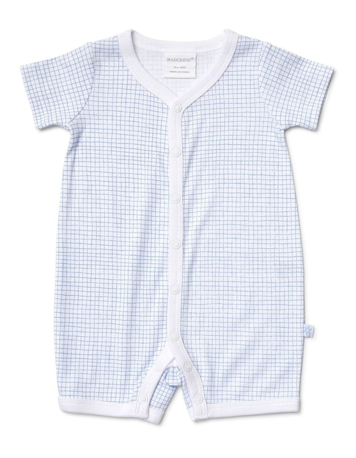 Boys 2 Pack Romper Combo Blocks/Dots image 2