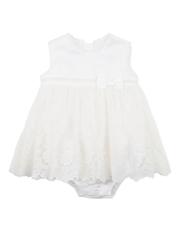 Lace Overlay Romper Ivory image 1
