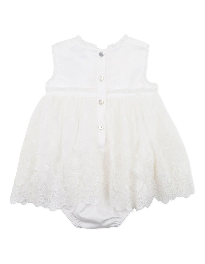 Lace Overlay Romper Ivory image 2