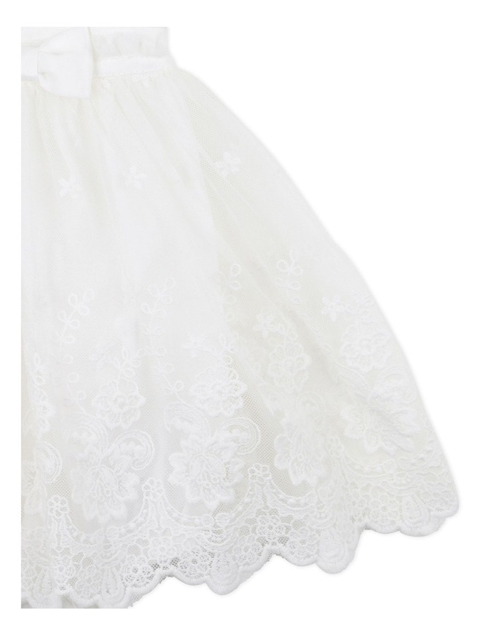 Lace Overlay Romper Ivory image 3