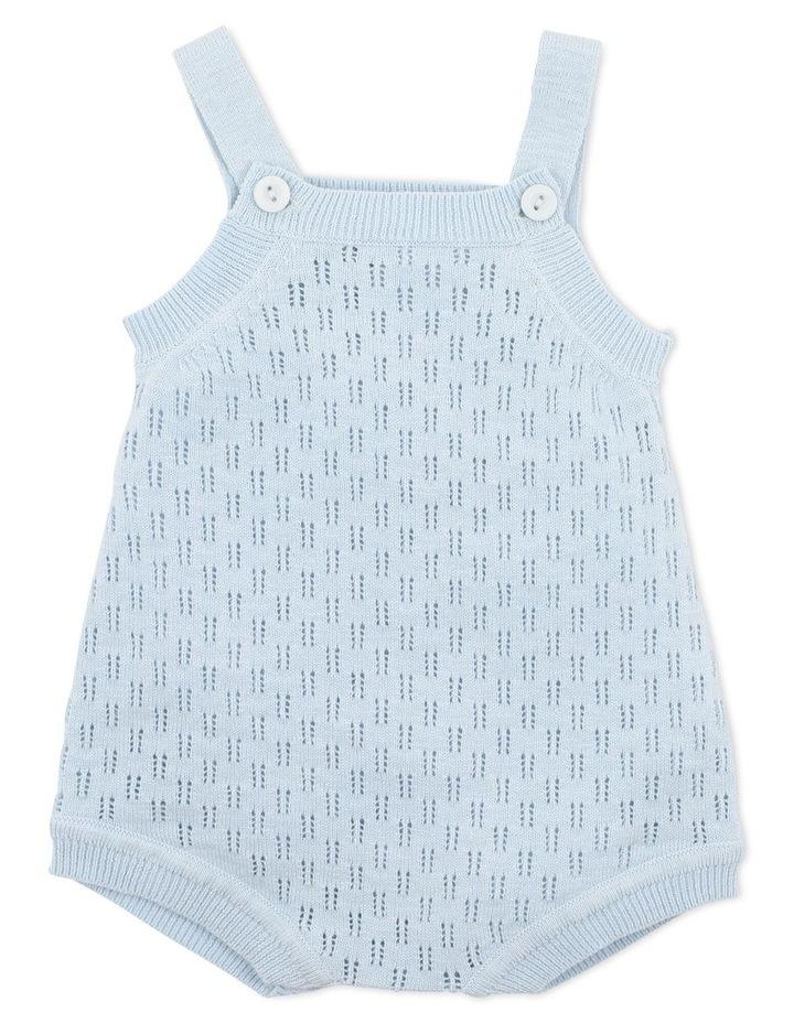 Riley Knitted Romper Light Blue image 1
