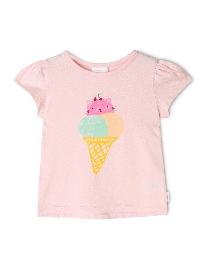 Essential Cat-Cream Print T-Shirt image 1