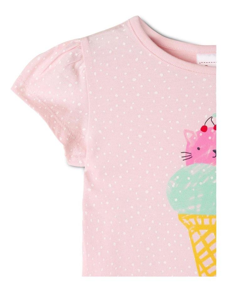 Essential Cat-Cream Print T-Shirt image 2