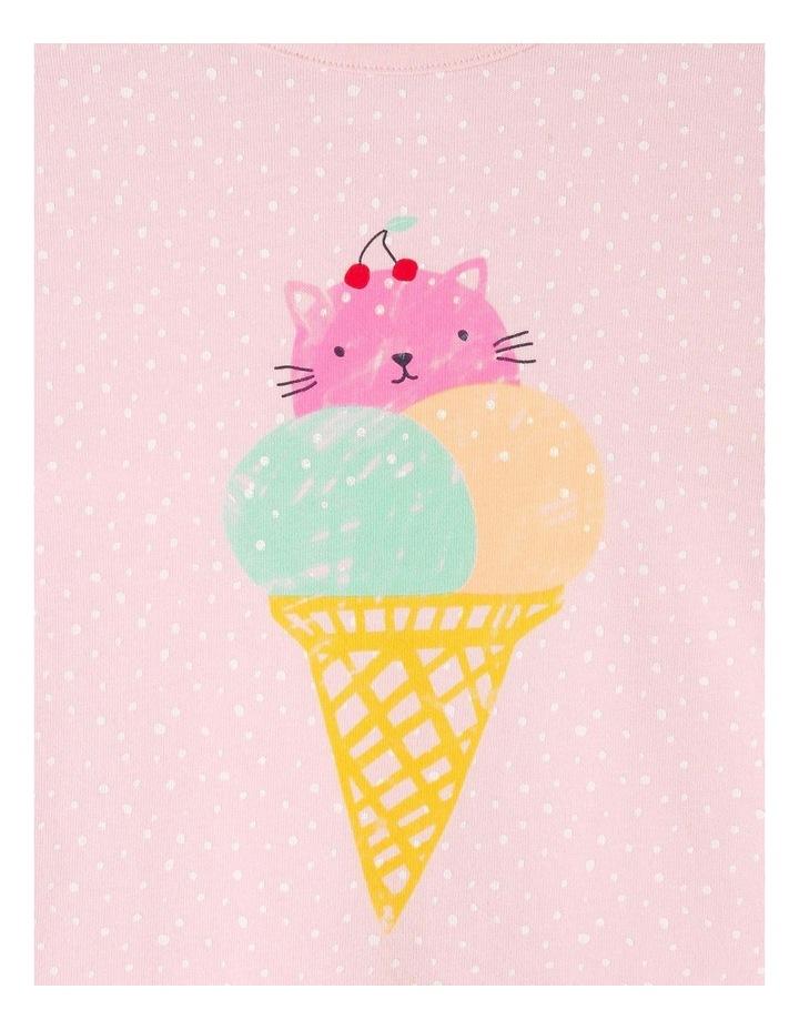 Essential Cat-Cream Print T-Shirt image 3