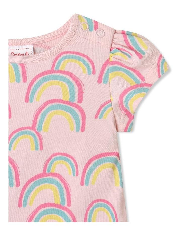 Essential Rainbow Cap Sleeve T-Shirt Pale Pink image 2