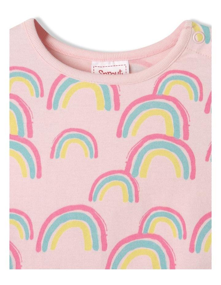 Essential Rainbow Cap Sleeve T-Shirt Pale Pink image 3