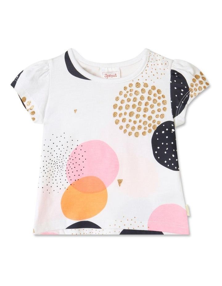 Essential Circles Cap Sleeve T-Shirt White image 1