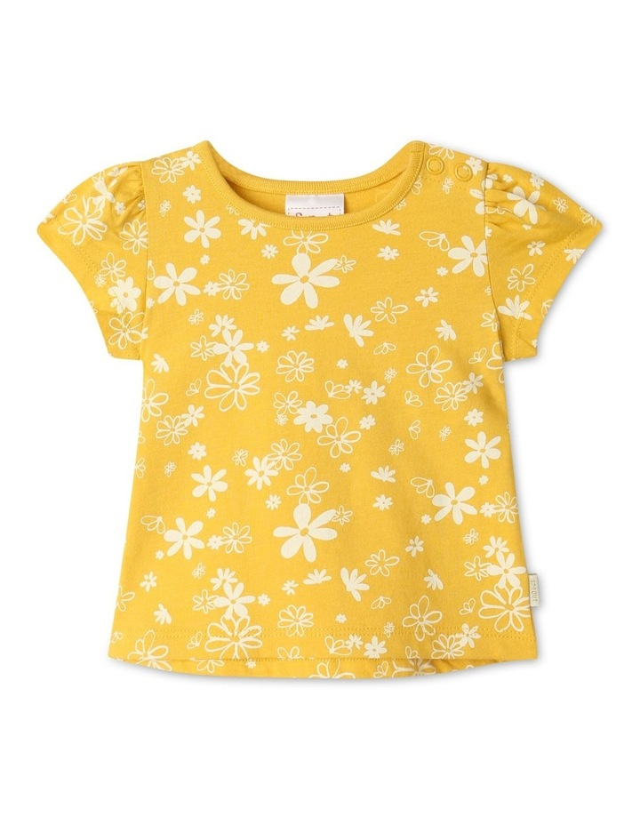 Essential Daisies Cap Sleeve T-Shirt Yellow image 1