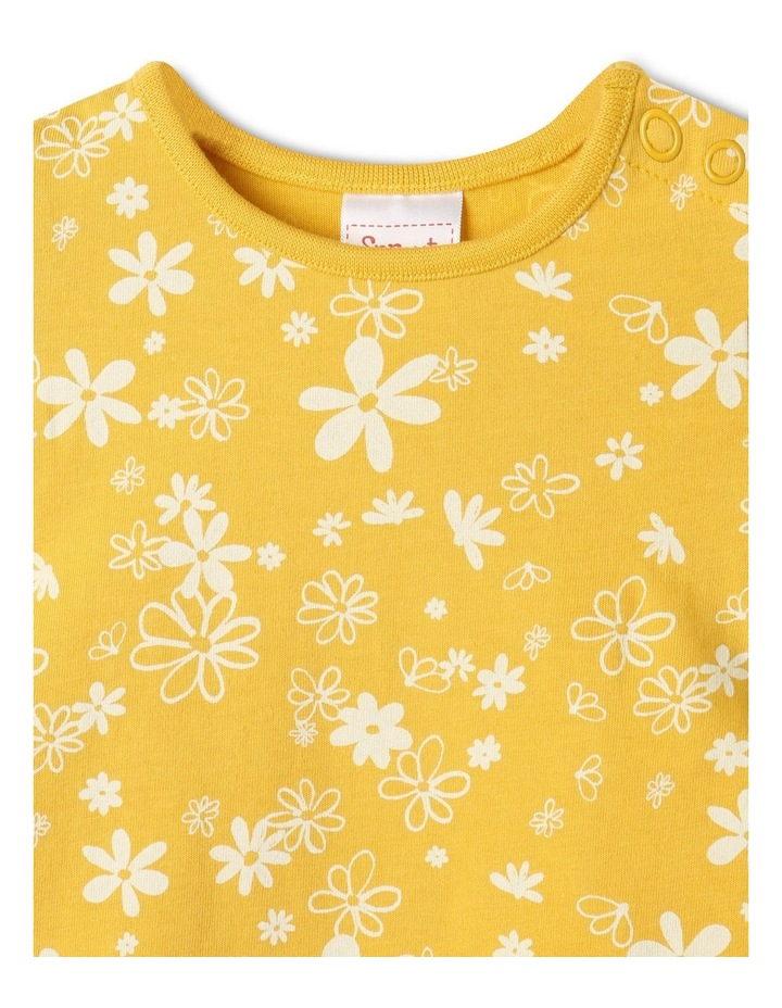 Essential Daisies Cap Sleeve T-Shirt Yellow image 3