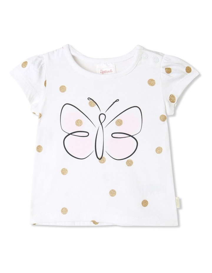 Essential Butterfly Cap Sleeve T-Shirt White image 1