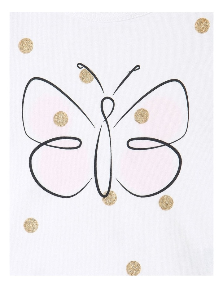Essential Butterfly Cap Sleeve T-Shirt White image 4