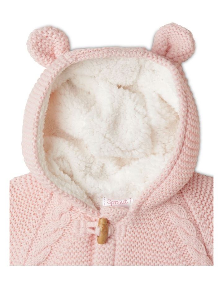 Sherpa Lined Knit Cardigan Light Pink image 2