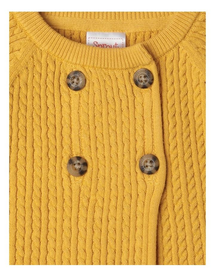 Organic Cable Knit Cardigan image 2