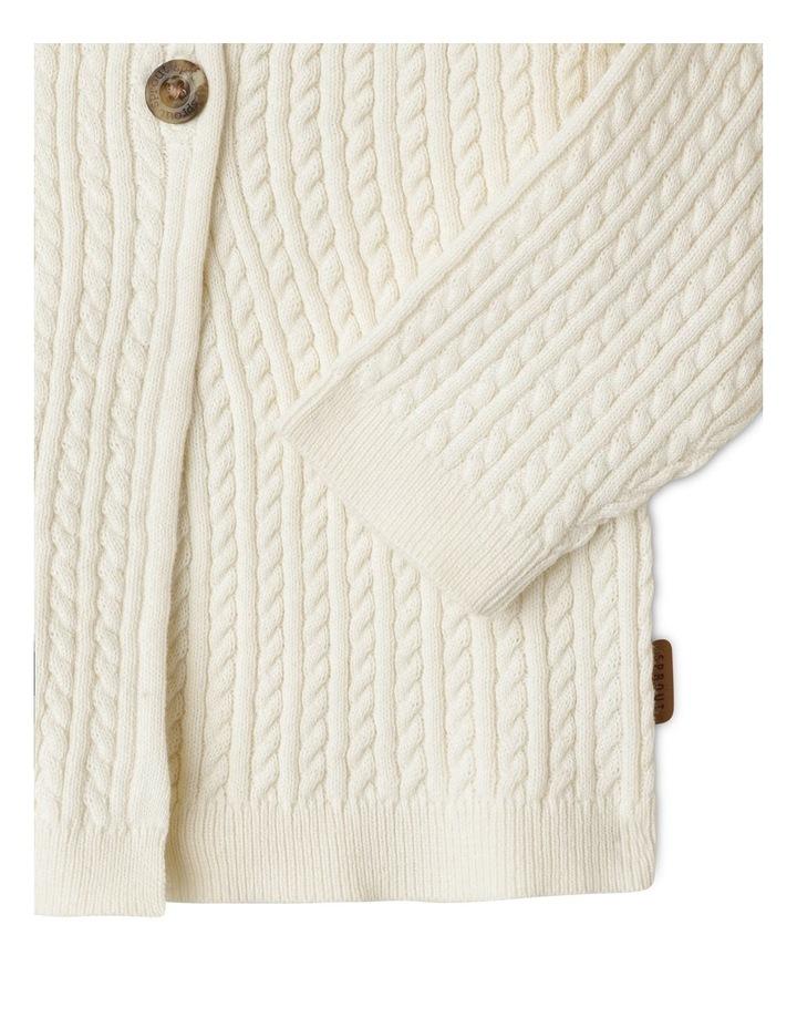 Organic Cable Knit Cardigan image 3