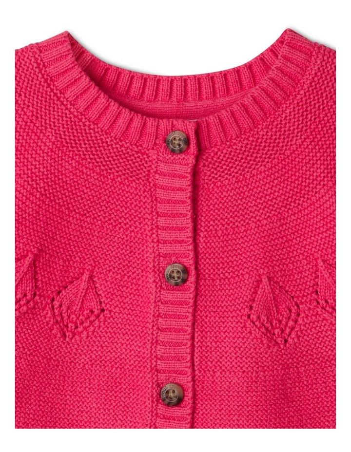 Ina Pointelle Knit Cardigan Raspberry image 2