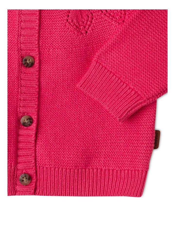Ina Pointelle Knit Cardigan Raspberry image 4