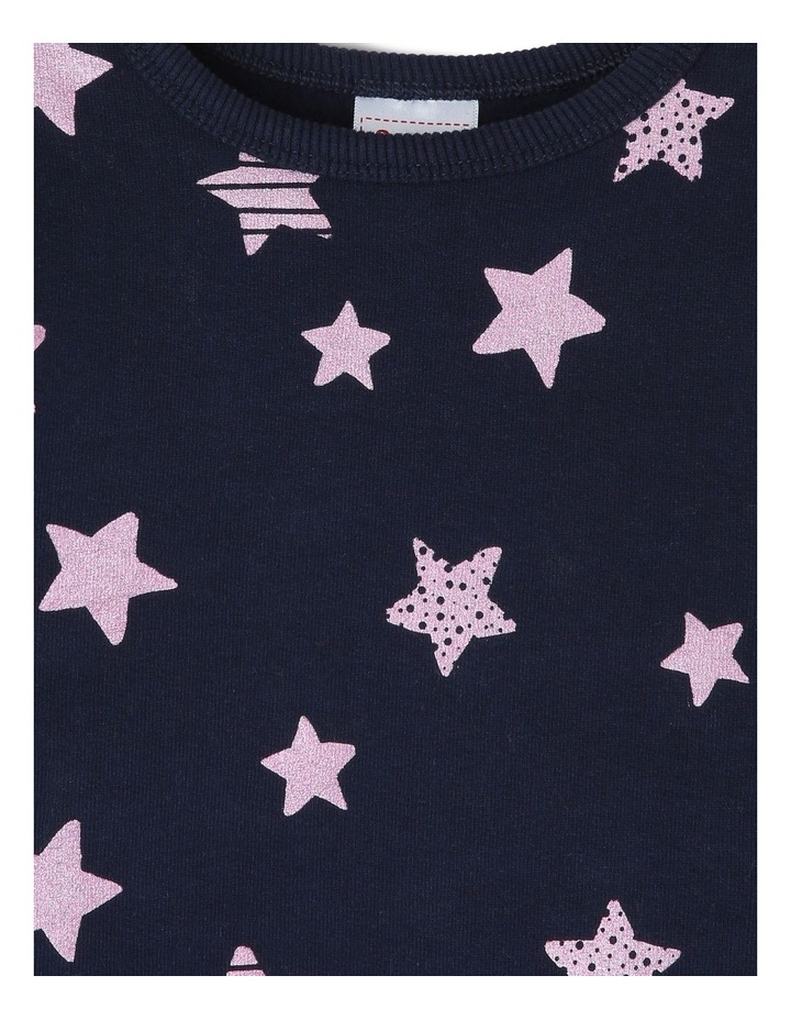 Essential Navy Sweat-Top with Star Print image 2