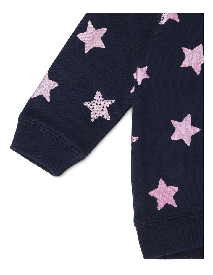 Essential Navy Sweat-Top with Star Print image 3