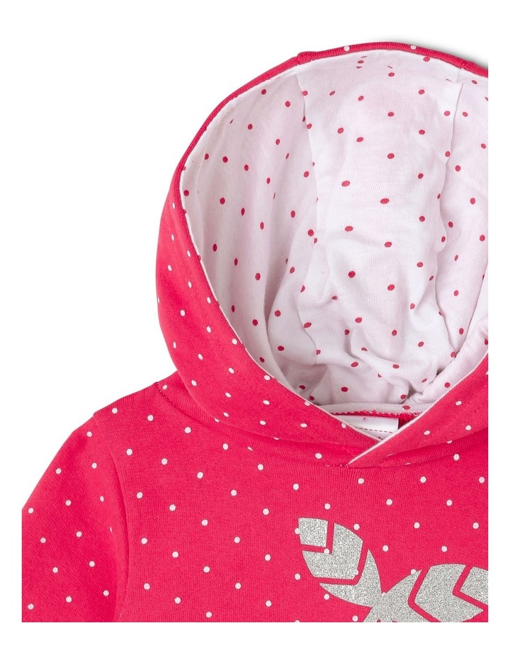 Essential Raspberry Hoodie with Cherry Print image 3
