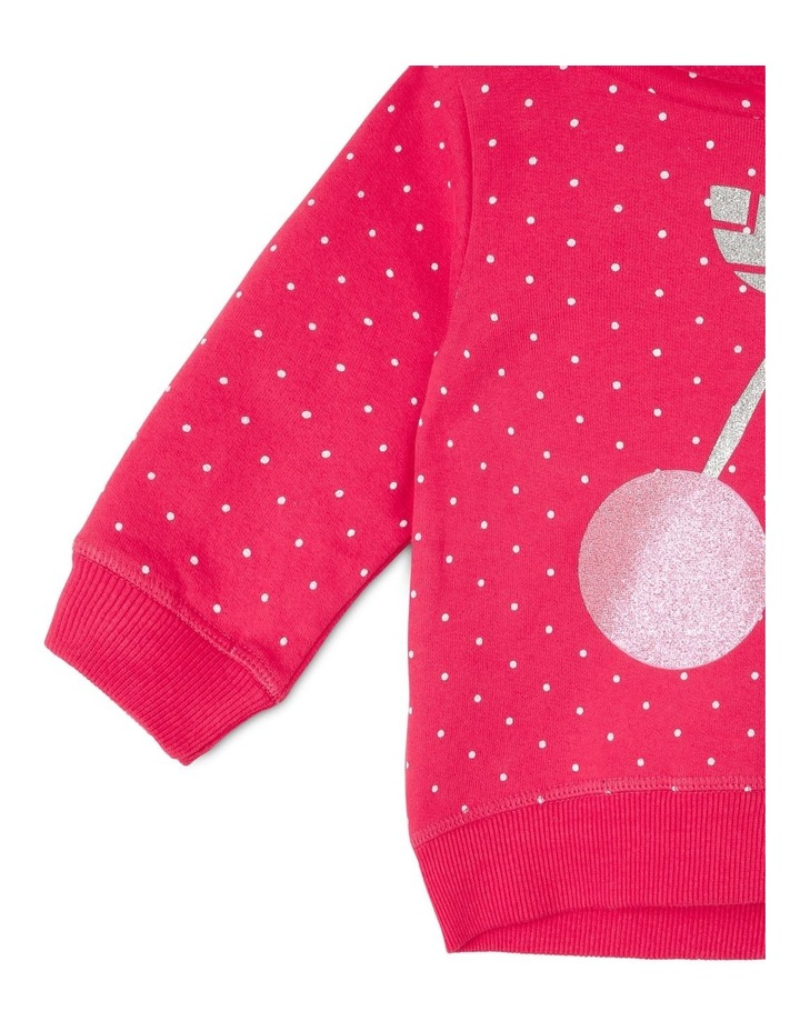 Essential Raspberry Hoodie with Cherry Print image 4