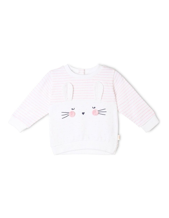 Girls Novelty Bunny Sweat-Top image 1
