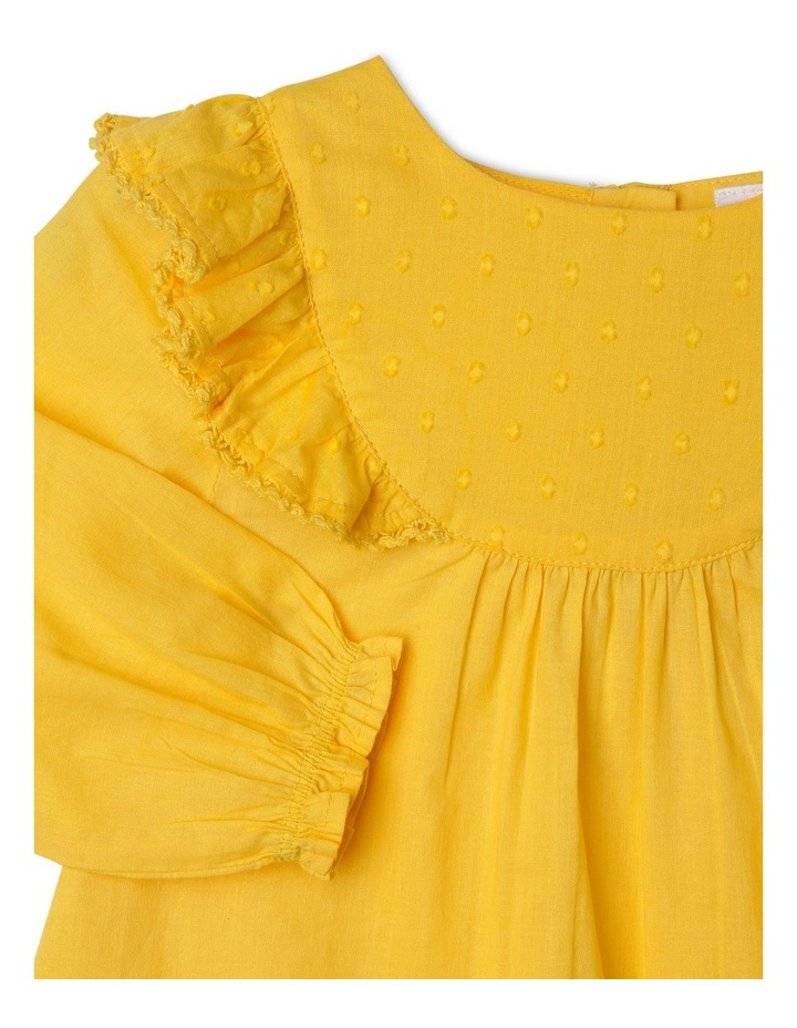 Woven Bib Top with Frill Shoulders image 2