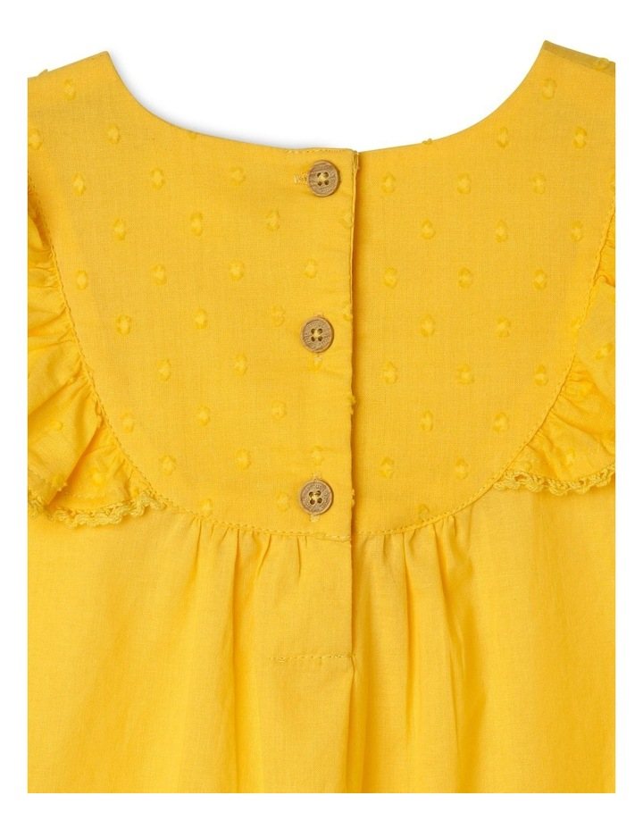 Woven Bib Top with Frill Shoulders image 3
