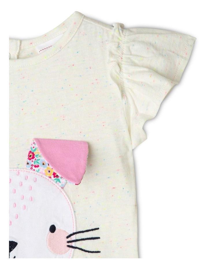 3D Bunny Flutter Sleeve Top image 3