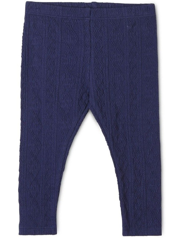 Girls Cable-Knit Textured Legging image 1