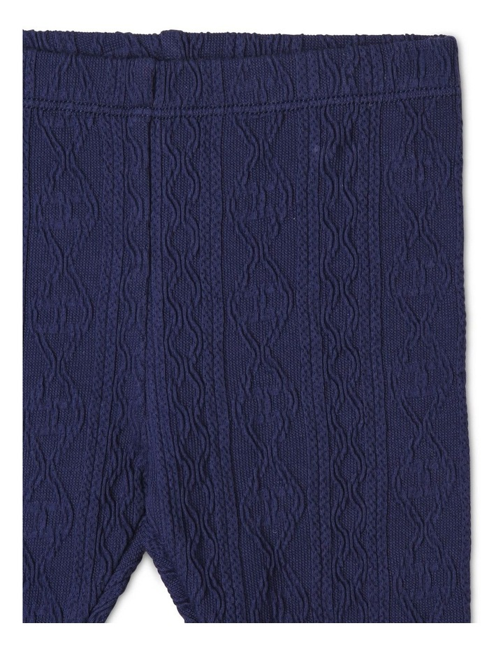 Girls Cable-Knit Textured Legging image 2