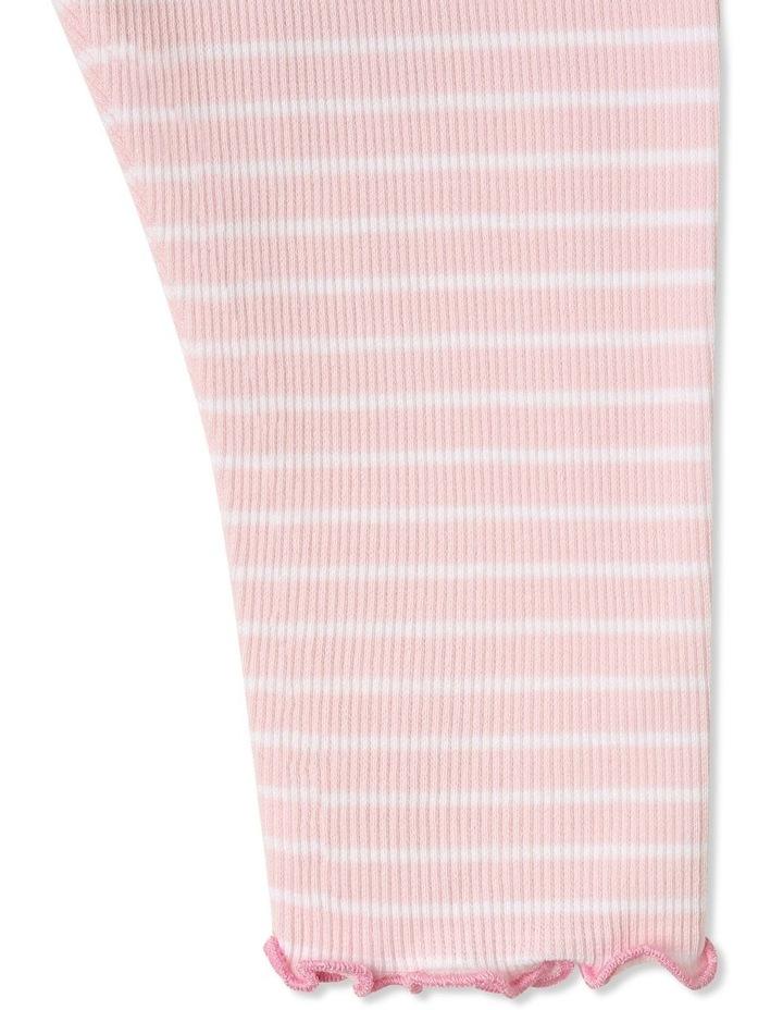 Yarn Dye Stripe Basic Rib Legging image 3