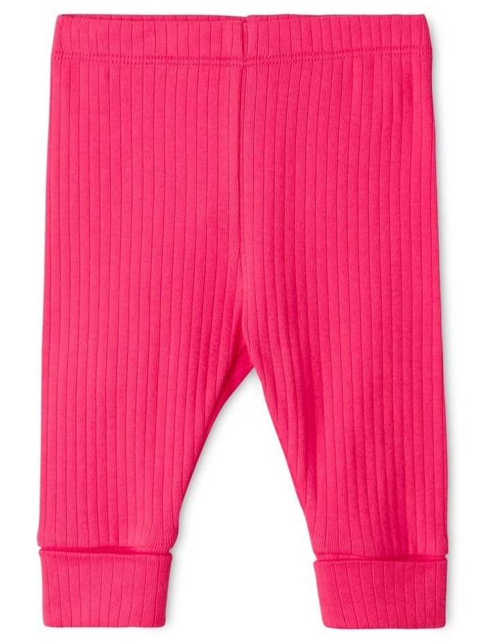 Essential Organic Rib Legging Pink image 1