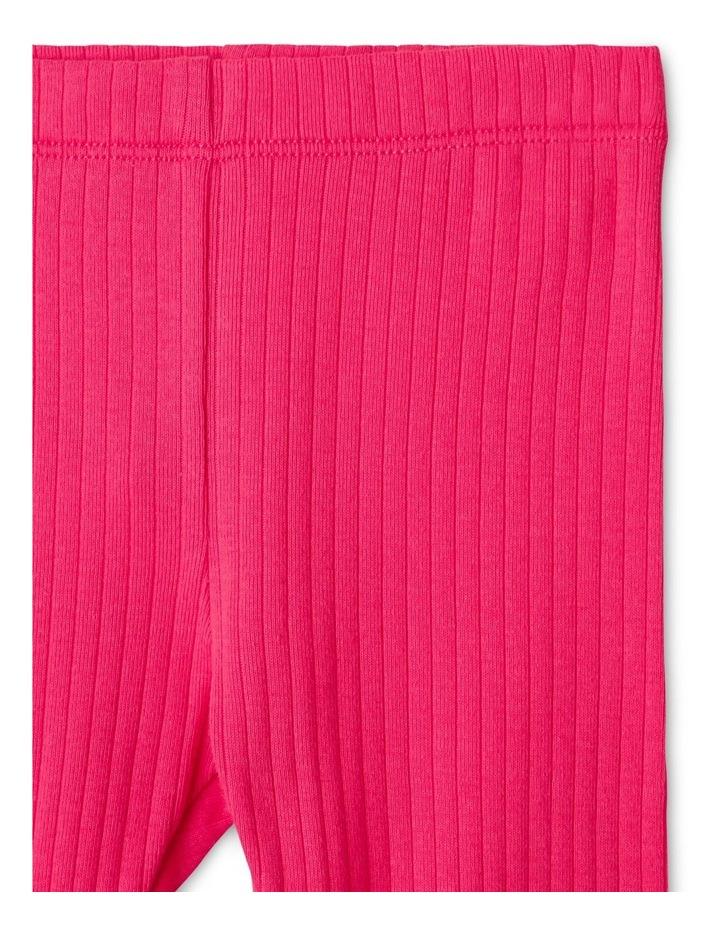 Essential Organic Rib Legging Pink image 2