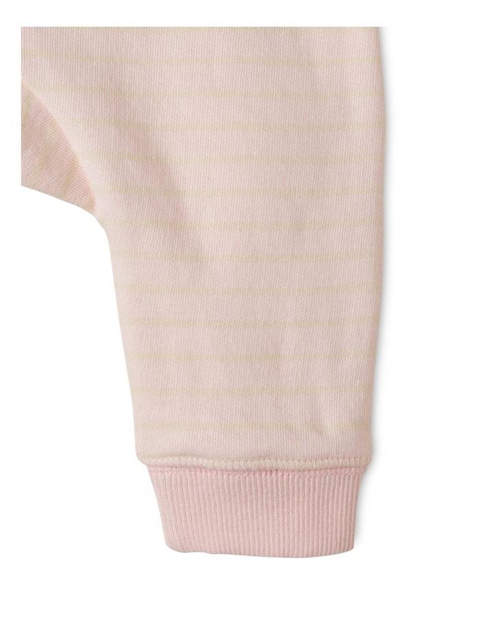 Pink Stripe Essential Organic Trackpant image 3