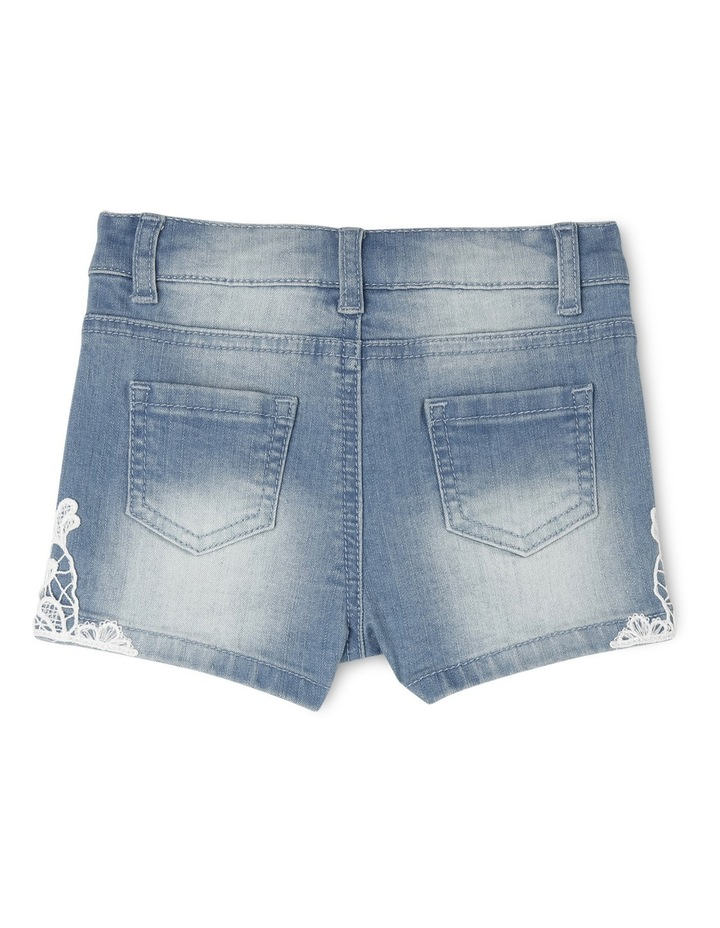 Denim Short with Lace image 2