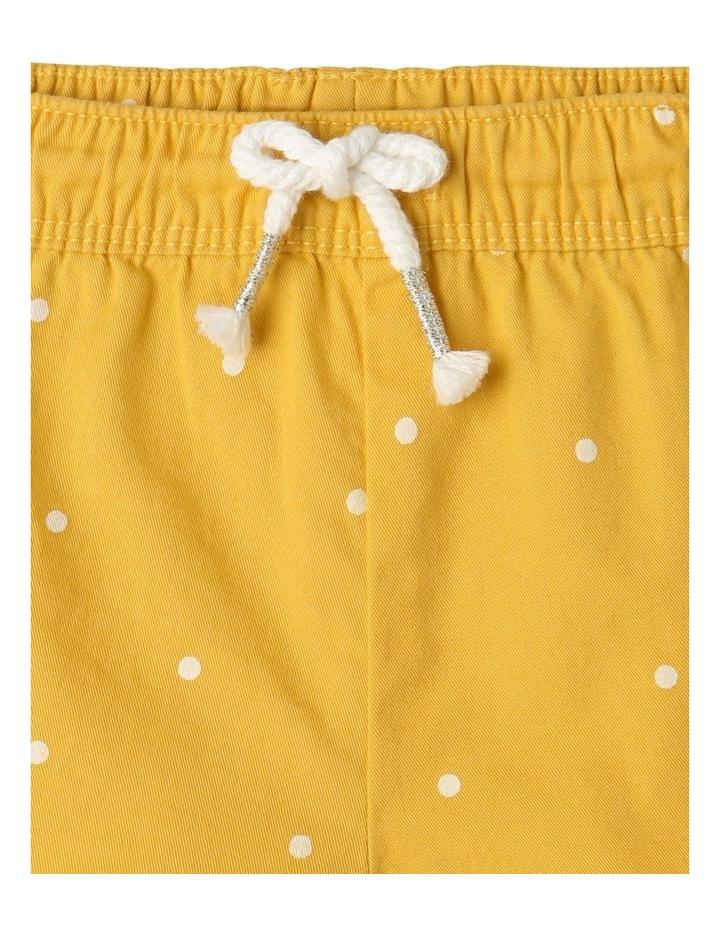 Essential Polka Dot Shorts Yellow image 3